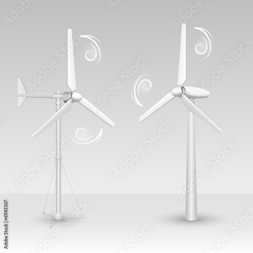 Wind turbines isolated