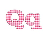 Abc fabric gingham, letter Q.