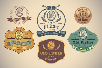 Old Fisher labels