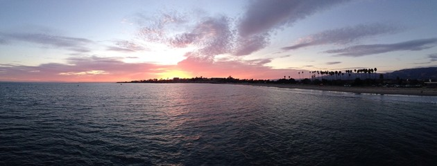 sunset panorama at santa barbara