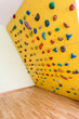 Small yellow climbing wall