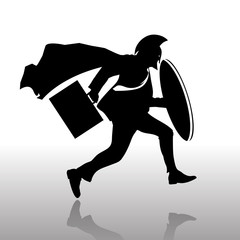 runing silhouettes spartan business