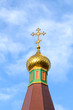 Detail take of a traditional orthodox church tower