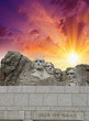 Mount Rushmore - South Dakota. Mountain and Grand View Terrace W