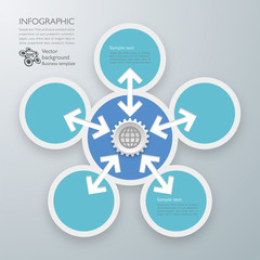 Infographics Vector Background Data Linkage