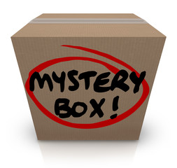 Mystery Cardboard Box Shipment Package Classified Contents