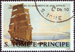 Постер, плакат: Ferdinand von Zeppelin sailing ship Sao Tome and Principe 1988
