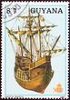 Постер, плакат: Santa Maria Colombus ship Guyana 1988