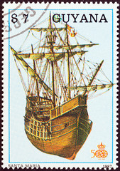 Santa Maria, Colombus ship (Guyana 1988)