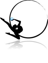 Logo ginnastica ritmica - Palla