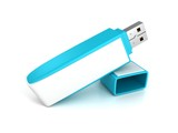 blue usb flash memory drive stick with cover