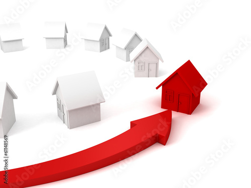 arrow choice pointing individual red house other set