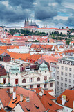 Panoramic view of Prague Castle from Clock Tower