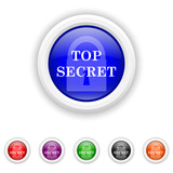 Top secret icon - six colours set vector