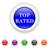 Top rated  icon - six colours set vector