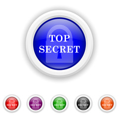 Top secret icon - six colours set vector
