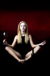 Yoga and red wine