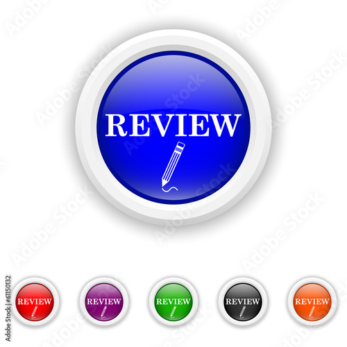 Review icon - six colours set vector