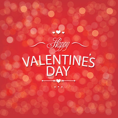 Valentines Day Red Bokeh Background
