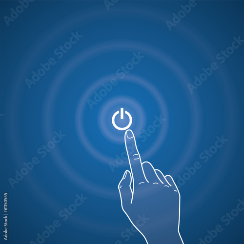 Vector touchscreen illustration, power button