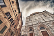Siena, Italy. Beautiful view of famous medieval architecture