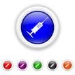 Syringe icon - six colours set vector