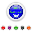 100 percent natural icon - six colours set vector