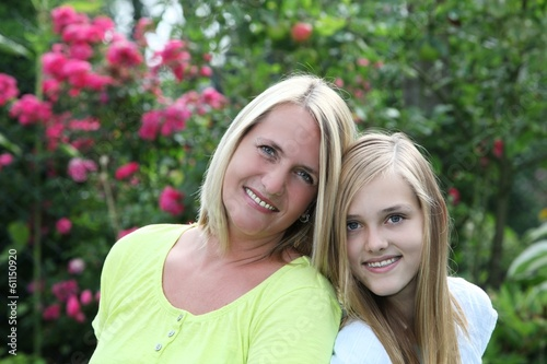 canvas print picture Happy mother with her teenage daughter