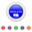 Donate icon - six colours set vector