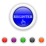 Register icon - six colours set vector
