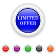 Limited offer icon - six colours set vector