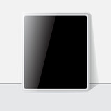 Tablet screen, white case. Vector