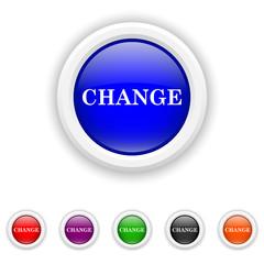 Change icon - six colours set vector