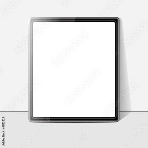 Tablet screen. Vector