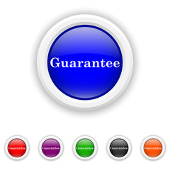 Guarantee icon - six colours set vector