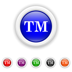 Trade mark icon - six colours set vector