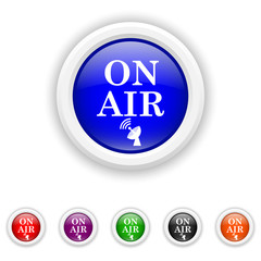 On air icon - six colours set vector