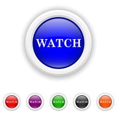 Watch icon - six colours set vector