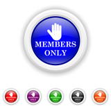 Members only icon - six colours set vector
