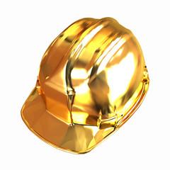 gold hard hat