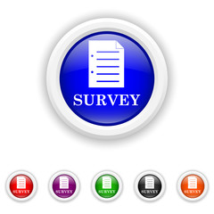 Survey icon - six colours set vector