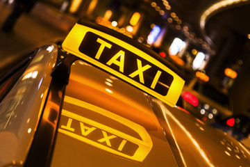 Taxi am Taxistand
