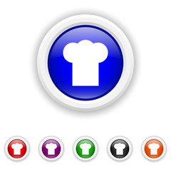 Chef icon - six colours set vector