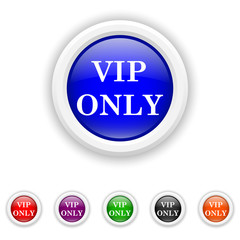 VIP only icon - six colours set vector