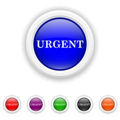 Urgent icon - six colours set vector