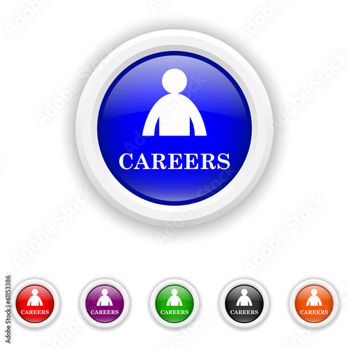 Careers icon - six colours set vector