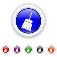 Sweep icon - six colours set vector