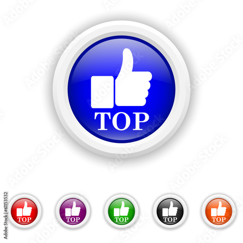Top icon - six colours set vector