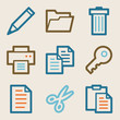 Document web icons, vintage series