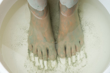 Foot Care. Mud treatment.